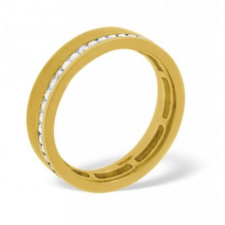 18K Gold 0.38ct H/si Diamond Wedding Band, WB02-38HSY